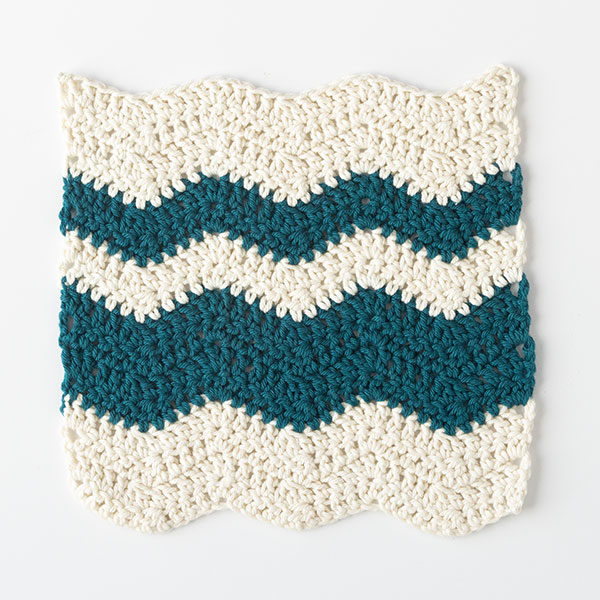 Wavy Chevron Crochet Dishcloth Pattern