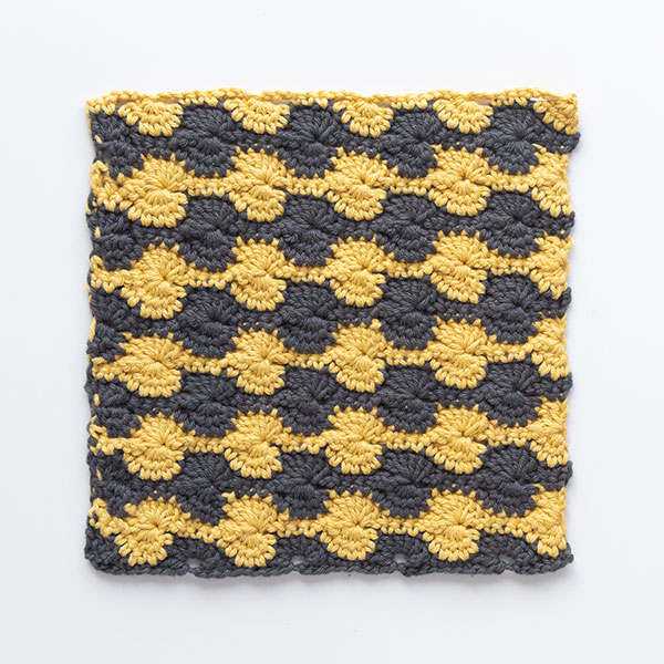 Peach Margot Crochet Dishcloth Pattern Pattern