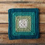 Teal Swirl Crochet Dishcloth Pattern