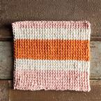 Sherbet Tunisian Crochet Dishcloth Pattern