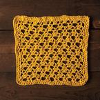 Golden Lattice Dishcloth Pattern