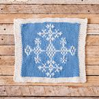 Ice Crystal Face Cloth Pattern