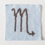 Zodiac Dishcloth Series Scorpio Pattern