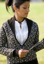 Calico Sweater Pattern Pattern