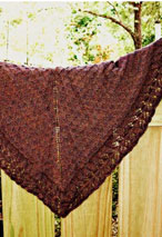 Went Berrying Shawlette Patten Pattern