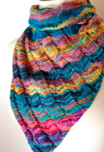 Asymmetrical Triangle Shawl Pattern Pattern