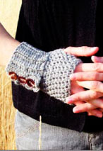Ruffled Button Tab Gloves Pattern Pattern