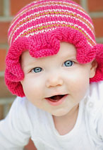 Ruffled Striped Hat Pattern Pattern