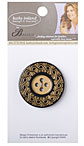 Kathy Ireland Fiesta Button - Black/Gold