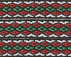 Hardanger Cotton Ribbon  red/grn