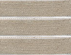 Linen Band with Gold Trim- 12mm - 5 meter Length
