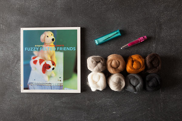 Neutral Needle Felting Kit