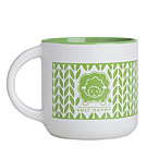 Knit Around Mug - Lime