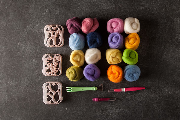 Pastel Needle Felting Tool Kit