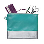 Knit Picks Zippered Pouch - Teal & Silver