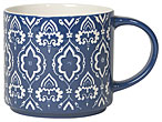 Moroccan Stacking Mug Dark Blue 16oz