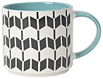 Geo Stacking Mug Turquoise 16oz