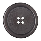 Huge Dark Wood Button Narrow Edge, 5cm
