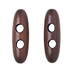 NEW Dark Brown Wood Toggle, 4cm