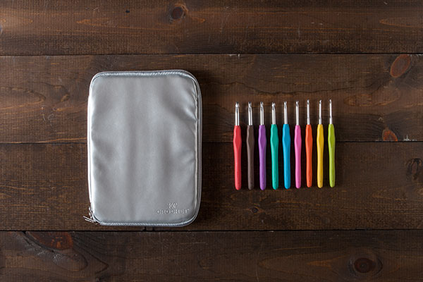 Knit Picks Crochet Hooks and Case - Silver