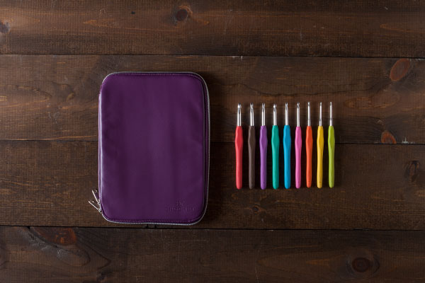 Knit Picks Crochet Hooks and Case - Purple