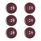Garnet Heather Dyed to Match Buttons, 15mm