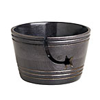 Mango Wood Yarn Bowl with Star - Black Stain