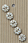 Handmade Light Blue Flower Stoneware Buttons
