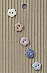 Handmade Small Flower Stoneware Buttons