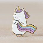 Sparkles the Knitting Unicorn Enamel Pin