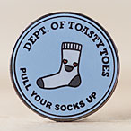 Department of Toasty Toes Enamel Pin