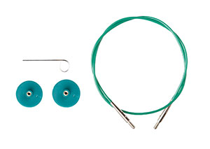 Options Interchangeable Circular Knitting Needle Cables - Green single pack