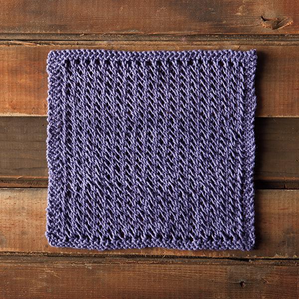 Knit a Lacy Spa Dishcloth