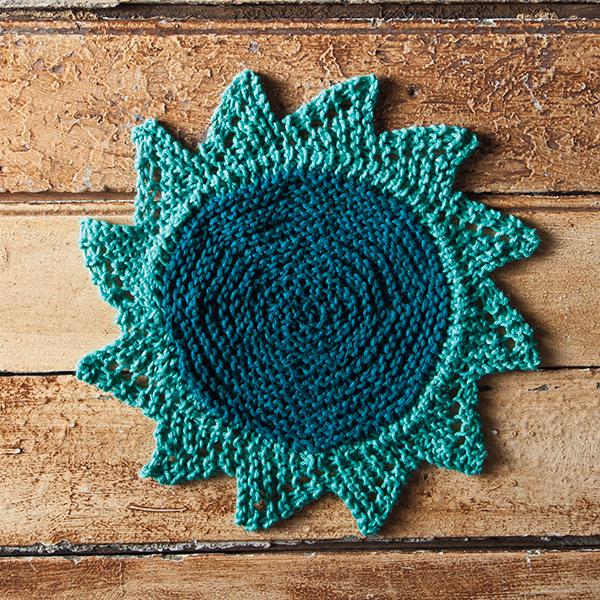 Knit a Starflower Dishcloth