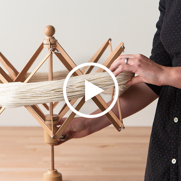 Winding Yarn with a Ball Winder and Swift