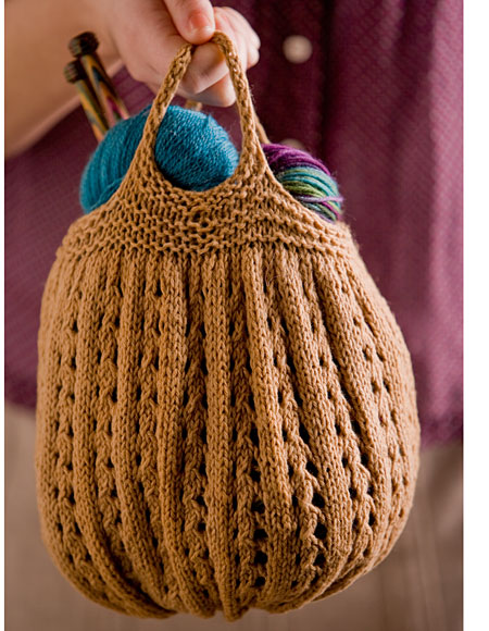 Knitting Pattern For Book Bag : Knitting Project Bag Pattern - Knitting Patterns and Crochet Patterns from Kn...