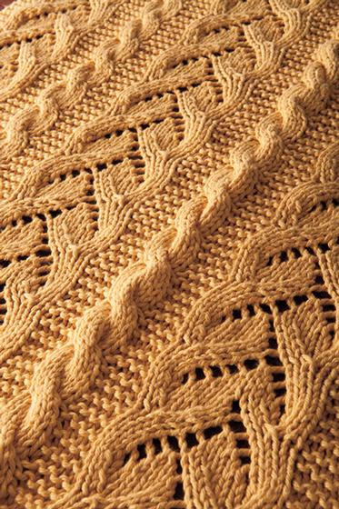 Fancy Cables and Lace Baby Blanket Pattern - Knitting Patterns and ...