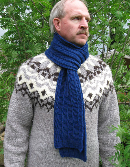 Mens Knit Patterns : Mens Scarf Pattern - Knitting Patterns and Crochet Patterns from KnitPic...