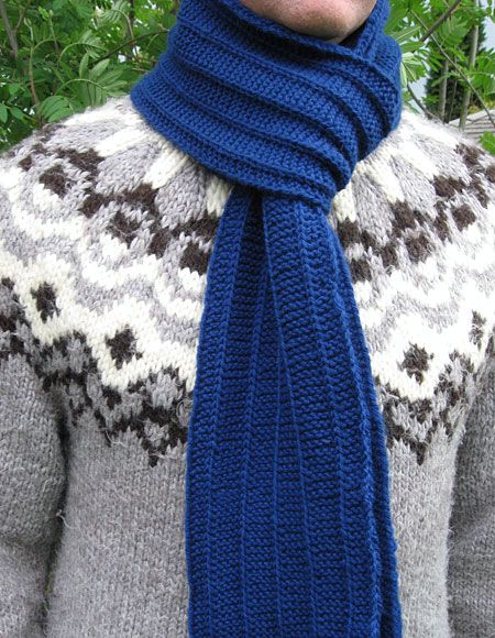 Men\'s Scarf Pattern - Knitting Patterns and Crochet Patterns from ...
