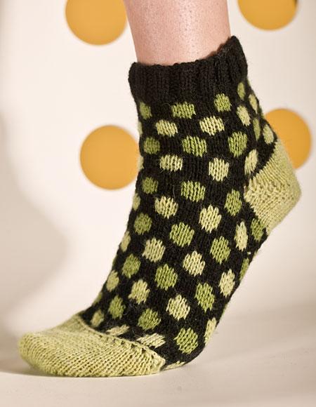 Polka Dot Socks Pattern Knitting Patterns And Crochet Patterns