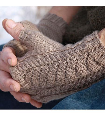White Caps Fingerless Gloves - Knitting Patterns and Crochet ...