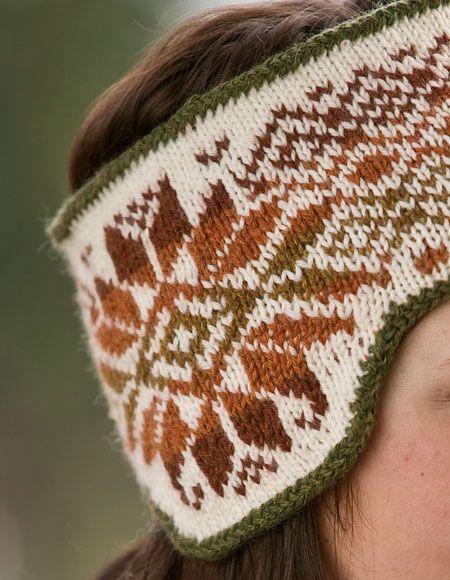 Fair Isle Knitting Free Patterns : Klondike and Snow Reversible Fair Isle Headband Pattern - Knitting Patterns a...