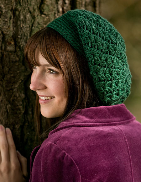 Galway Slouchy Crochet Beret Pattern Knitting Patterns And Crochet