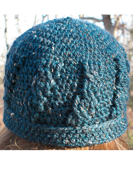 Simple Cable Crochet Hat - Knitting Patterns and Crochet Patterns ...