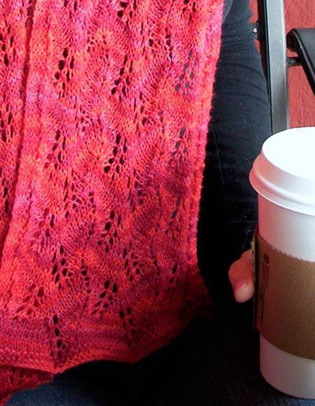 Leaf Lace Scarf - Knitting Patterns and Crochet Patterns from ...