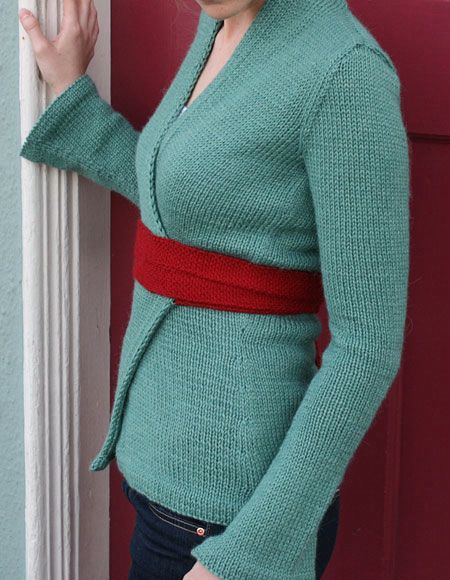 Knitting Pattern For Kimono Wrap : Kimono Wrap Cardigan - Knitting Patterns and Crochet Patterns from KnitPicks.com