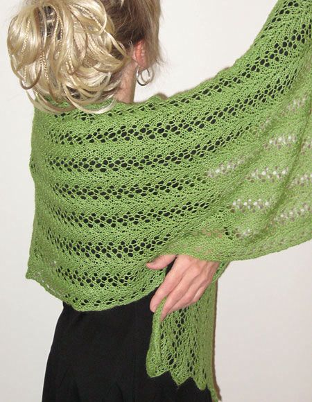 Knitting Stitches Wrap 1 : Spring Fling Convertible Wrap - Knitting Patterns and Crochet Patterns from K...