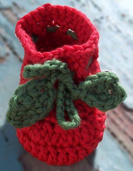 Apple Of My Eye Crochet Baby Hat & Booties - Knitting ...