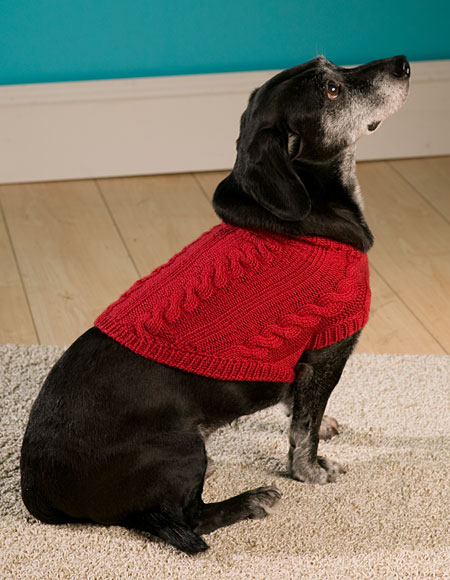 4 Cable Dog Sweater Knitting Patterns And Crochet Patterns From
