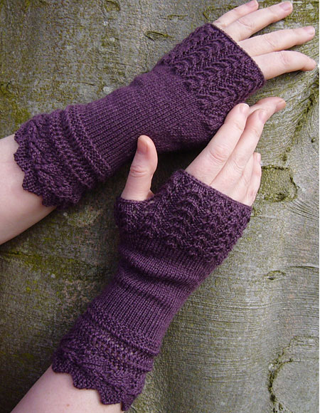 Belladonna Fingerless Mitts - Knitting Patterns and Crochet Patterns ...